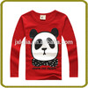 Children kid boys cotton fashion long sleeve o-neck t-shirt