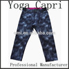 Custom Dry Fit Women's Sublimation Printing Yoga Capris Pants