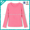 New! Hot Sale New Design Plain Long Sleeve Ladies T Shirt (lyt-040003)