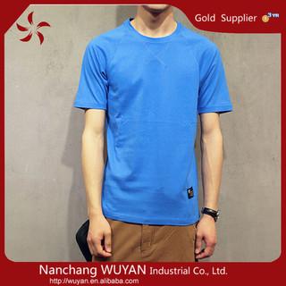 Wholesale o-neck Men's short sleeve solid color t shirt 100% cotton plain Casual men T shirt
