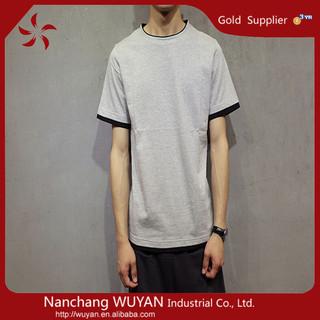 plain customized printing t shirt wholesale/Custom Mens T-shirt Plain Cotton T-shirt/mens round neck t shirt