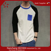 custom logo wholesale men 3/4 Sleeve Raglan T Shirts Men 3/4th sleeve blank cotton raglan baseball t shirt wholesale
