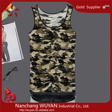 Fashional tank top men/custom tank tops /camouflage vest mens