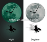 2015 Halloween wall clocks, acrylic witch wall clock