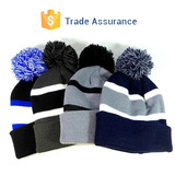 Custom Pom Pom Beanies Winter Warm Hats