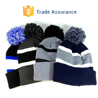 Custom Pom Pom Beanies Winter Warm Hats