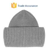Rib Knitting Wool Turtleneck Cap Custom