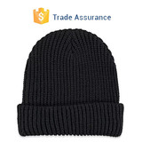 Ribbed Fold-Over Beanie