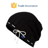 Solid Slouch Beanie with String