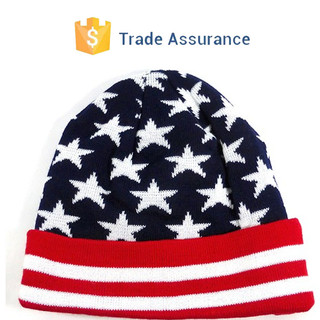 Wholesale Long Beanie American Star Jacquard