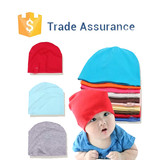 Wholesale Baby Beanies Cotton Plain Knit Cotton Baby Beanie Hat