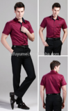 RED shirt Direct sale factory Slim fit wholesale design/shirt printing/custom shirt design by your own