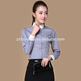 2015 women shirts blouse fashion long sleeve women dress shirts club collar good quality Business Shirt For Women Slim Fit
