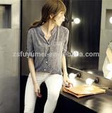 Ladies fashion strips casual shirt,chiffon blouse and tops ,shirts for women 2015