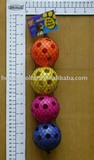 4pcs pet play colorful ball & toy with hole