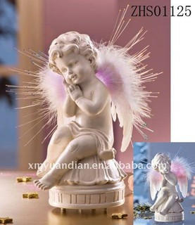 Angel Musical Bell Decorations with optical fiber light