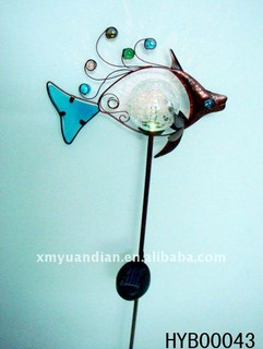 Fish Design LED Solar Light with Stick