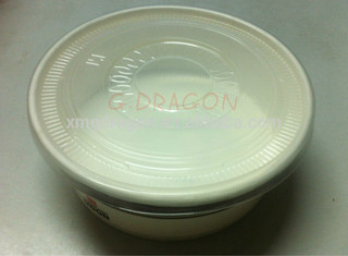 27oz 900ml OEM logo disposable white pe coated blank disposable cone paper bowl