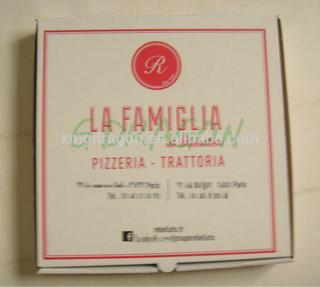 Personalized logo E flute full sizes pizza design box packaging