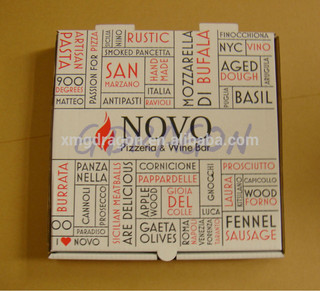 "8"" personalized logo E flute rectangle disposable custom take away food box"