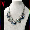 2015 Exaggerated Colorful Clavicle Crystal Necklace Flower Necklace