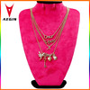 2015 New Fashion Gold Chain Statement Necklace