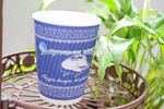 Disposable Ripple Paper Coffee Cups With dome Lids