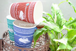 Custom Logo Printed Disposable Recycled Ripple Paper Coffee Cup With Lids
