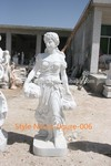 polished Life size Hand carved Marble figure statue