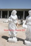 Antique polished Life size Hand carved Marble figure statue