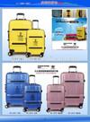 Aluminum buckle hardshell luggage set,abs/pc trolley luggage,luggage bag