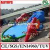 Factory price Alitoys giant inflatable water park, inflatable amusement park