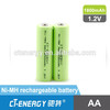 NIMH 1.2v 1800mah aa rechargeable battery