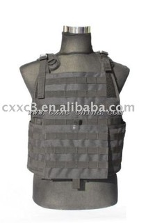 Black Color MOLLE System Tactical Vest