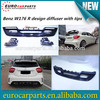 High quality w176 A class R design carbon fiber diffuser in carbon for MB A CLASS W176 A45 Style rear bumper