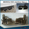 W212 exhaust pipe/muffler tips for MB E-Class A- W212 E63 *304 stainless material