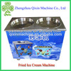 commercial double flat pan soft fried ice cream machine