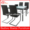 Simple design dining room 4 seaters metal kitchen table and chair