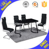 HJ-835-2(-3)+612 modern assembled restaurant stainless steel dining table and chair sets