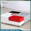 Modern MDF multifunction led coffee table with wheels