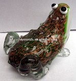Murano glass frog for home decor