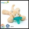 hot sale baby toy plush pacifier/plush toy with pacifier