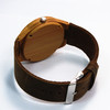 Wholesale Luxury Leather Watch/Wooden Wristband Watch/Bamboo Wood Watch for Men And Women