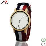2017 Fashion nylon strap wooden watches,hot sale style wood watch