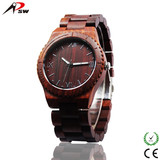 All wood made wood watch high quality wristband watches with miyota quartz movt