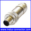 Assembly screw type m12 5pin shielded connector