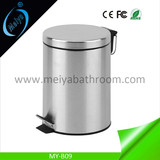 stainless steel pedal trash can