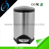 high-end stainless steel pedal dustbin