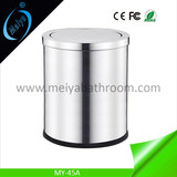 roll cover waste bin for hotel