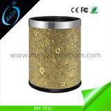 plastic leather trash can, garbage container